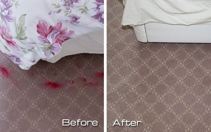 Removal of lipstick trodden into a client's carpet