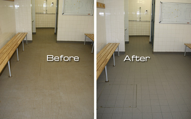 They could never get these clean - footballers changing rooms as good as new