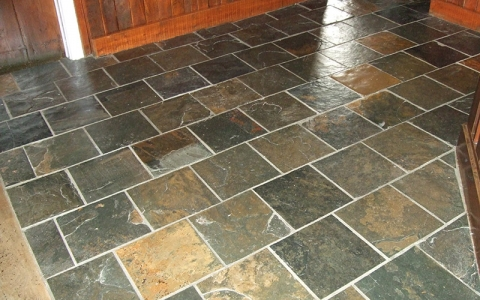 A beautiful slate pub floor brought back to life